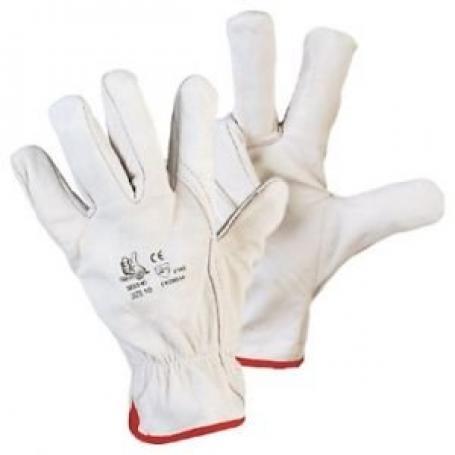 4987041 guanti pelle bianchi