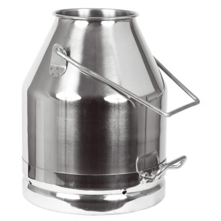 Secchio per latte in acciaio inox