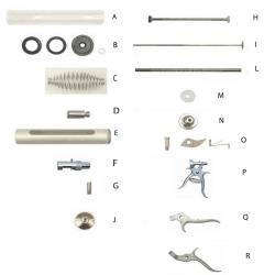Spare parts for Muto syringe