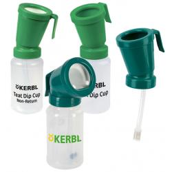 Disinfection bottles for bovine teats