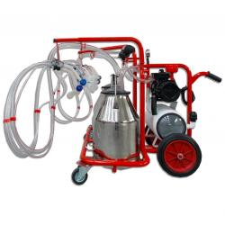 4-group sheep milking machine with 2 bins