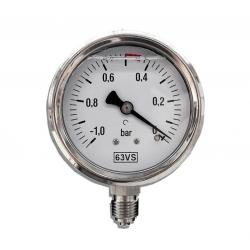 Vacuum gauge for milking machines or fixed systems