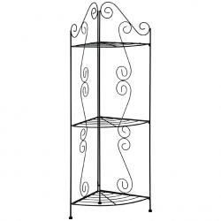 Scaffale porta oggetti angolare con 3 piani