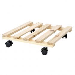 Trolley portavasi quadrato in legno