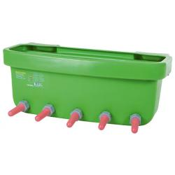 Drinking trough with 5 teats for calves