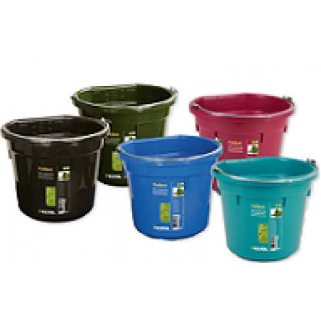 Flatback bucket with handle 20 lt