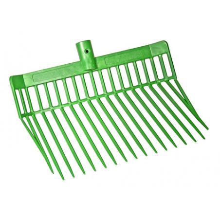 Manure fork with telescopic handle