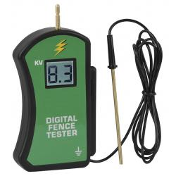 Digital voltmeter for electric fences