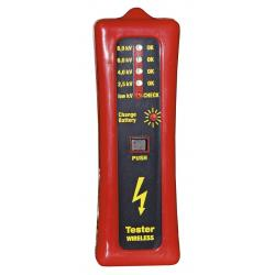 Electrical voltage indicator tester without pickets