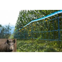 Electrified network against wild boars and wild animals