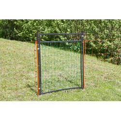 Door for nets and electric fences