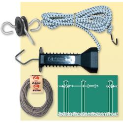 Gate with elastic electric cord for fences