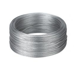 Galvanized braided wire for fences