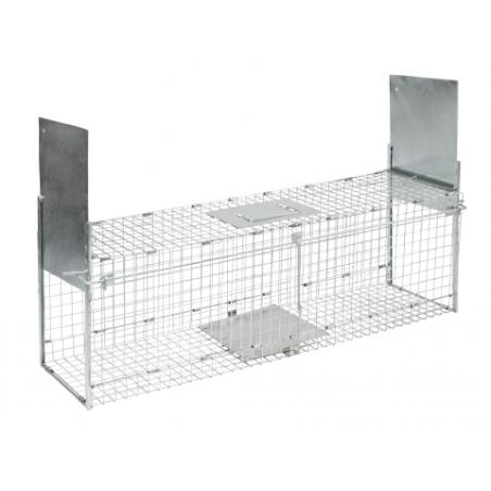 Trap with two entrances for mice and rats
