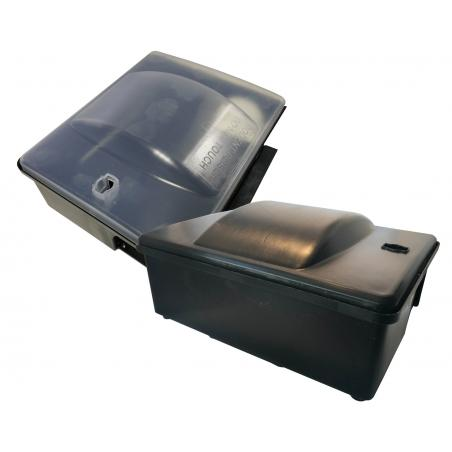Ro-bait container for topicide baits