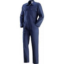 Blue work overalls in cotton