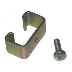 Kit with clamp and screws for T-shaped metal post