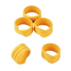 Anelli gialli a spirale per pollame (conf. 20 pezzi)