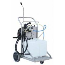 Deluxe trolley for cleaning and disinfection