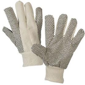 Anti-slip work gloves with PVC dots