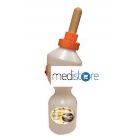 Botella Gewa para alimentación de terneros con flujo ajustable