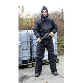 Work coverall with hood