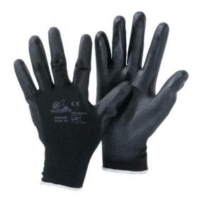 Nylon gloves covered with polyurethane