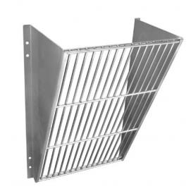 Wall rack for straw and hay in stainless steel