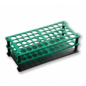 Plastic test tube holder with 60 places
