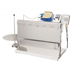 Semi automatic machine for roll envelopes