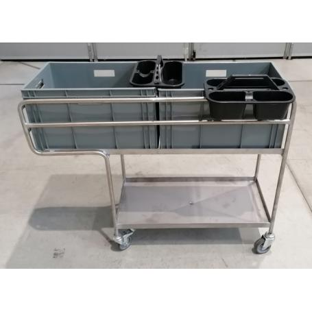 Trolley with tanks for veterinary use